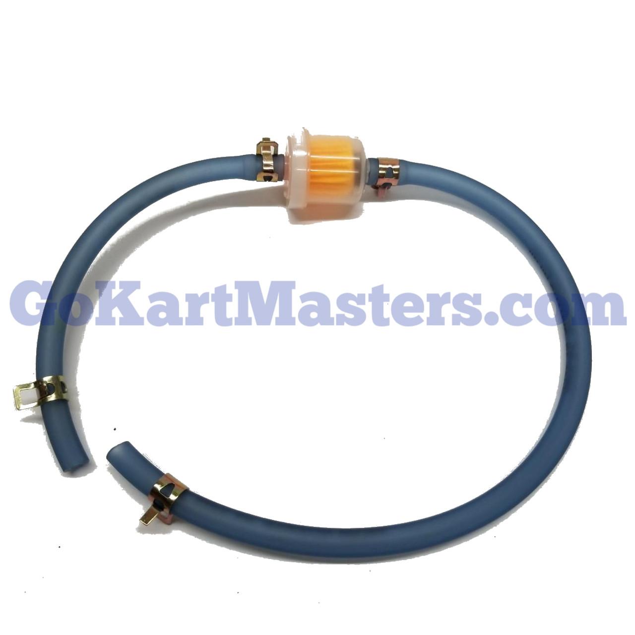 TrailMaster Go Kart Fuel Hose & Filter Kit (Blue)