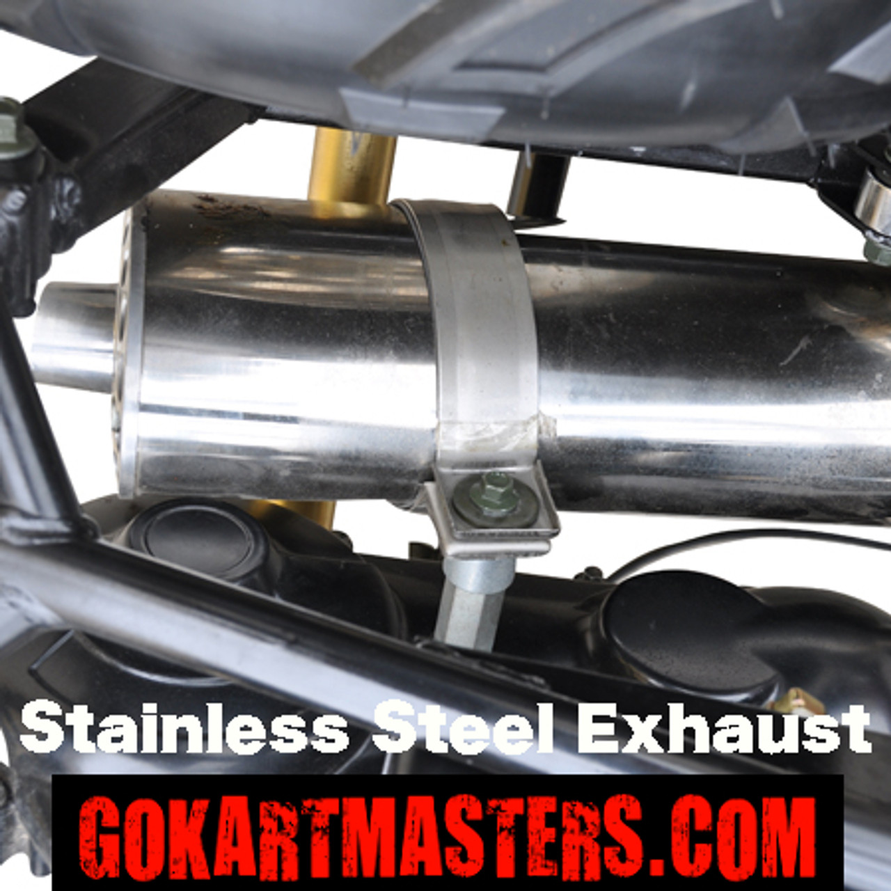 TrailMaster 150 XRS Go-Kart - Stainless Steel Exhaust