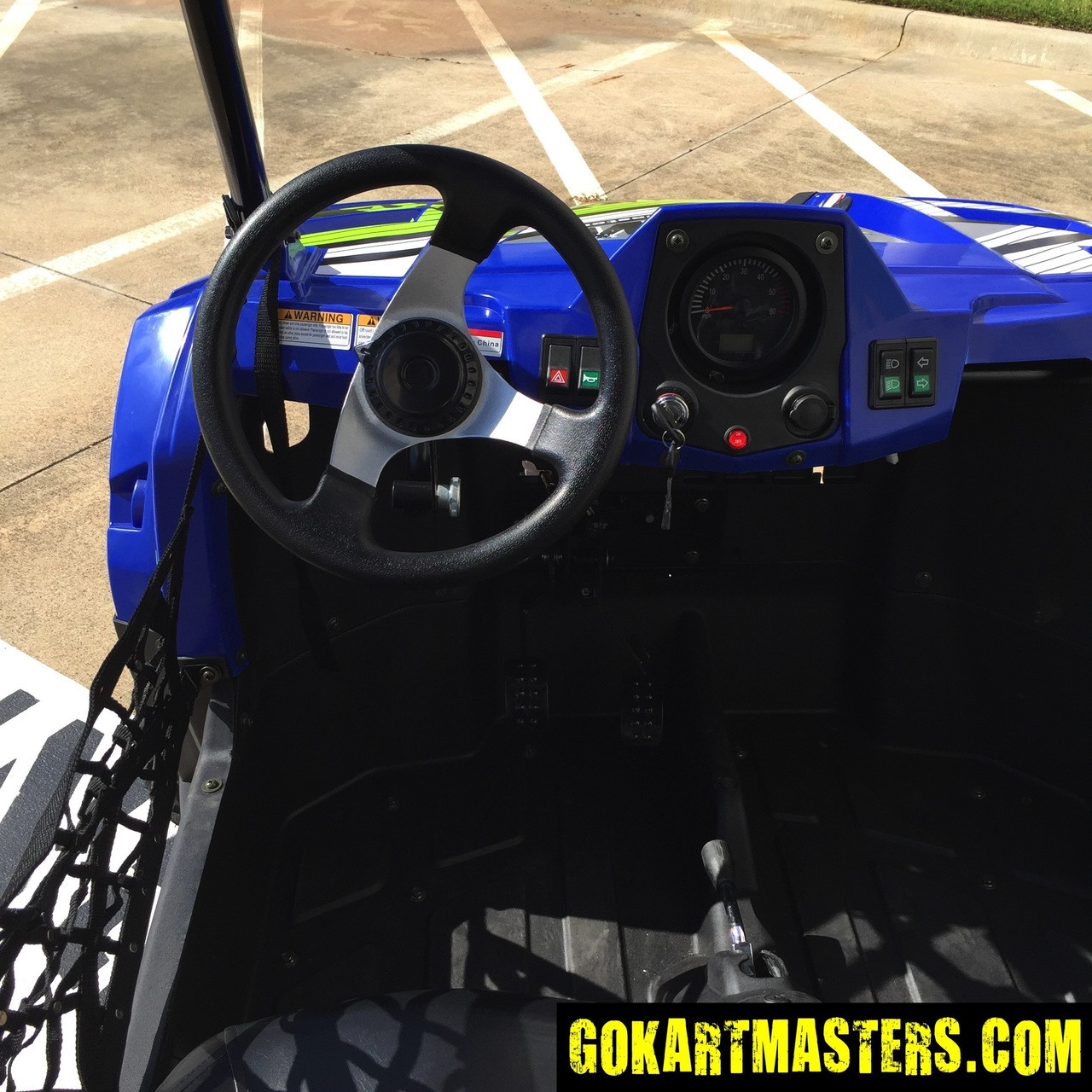TrailMaster Challenger 300S UTV - View From Driver's Seat