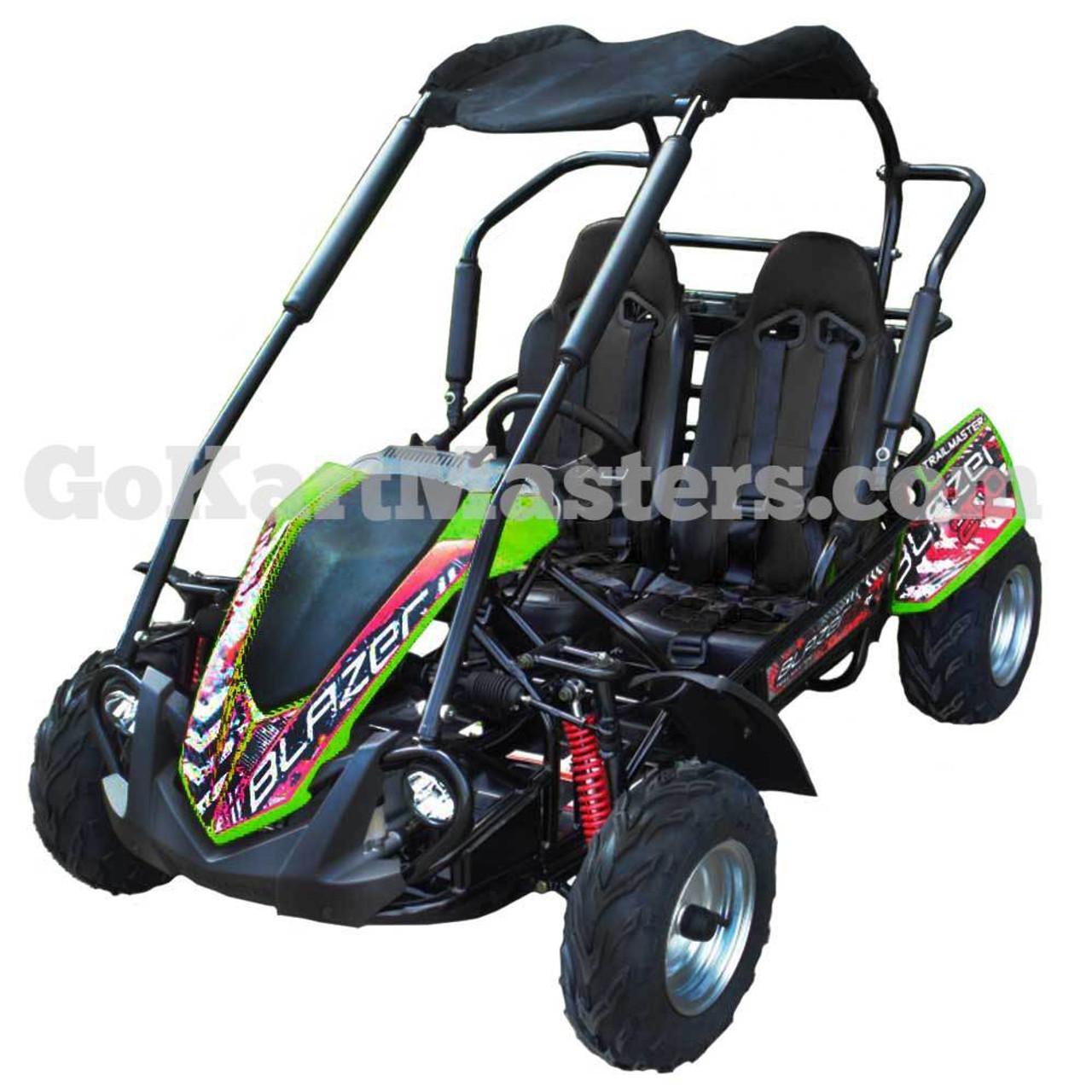 TrailMaster Blazer 200R Go Kart w/ Reverse - Green