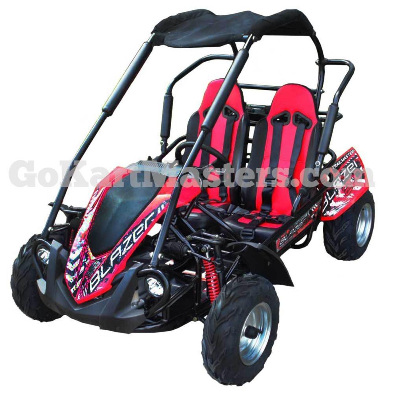 TrailMaster Blazer 200R Go Kart w/ Reverse - Red