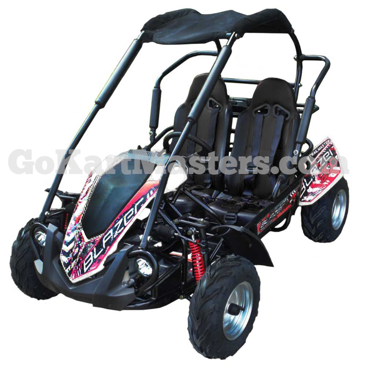 TrailMaster Blazer 200R Go Kart w/ Reverse - White