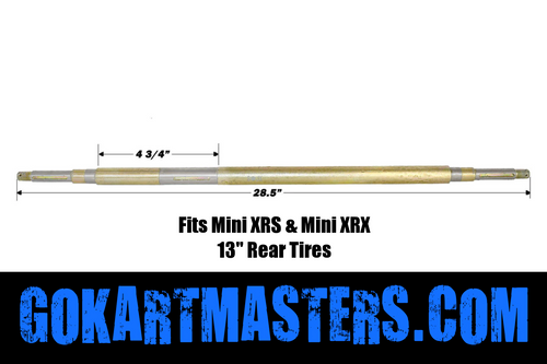 TrailMaster Mini XRS, & Mini XRX Rear Axle