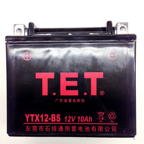 TrailMaster Go Kart Battery YTX12-BS - Fits All 150 & 300 Karts & UTVs