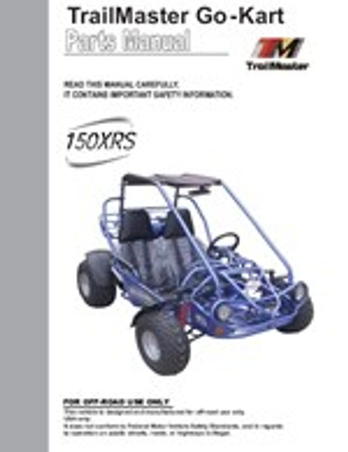 TrailMaster 150 XRS Go-Kart Parts Manual