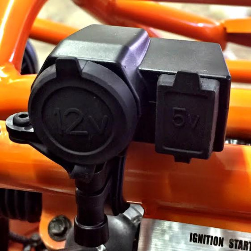 USB/12V Outlet for TrailMaster Mid XRX and Mid XRX-R Go-Karts