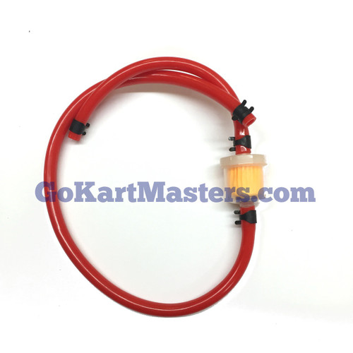 TrailMaster Go Kart Fuel Hose & Filter Kit (RED)