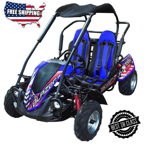TrailMaster Blazer 200R Go Kart w/ Reverse - Blue