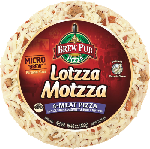 MicroBrew, 4 Meat, 9-inch Personal Pizza