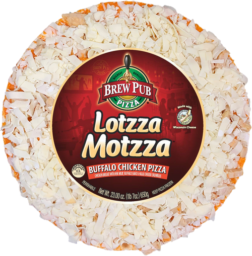 Brew Pub Lotzza Motzza Buffalo Chicken Pizza