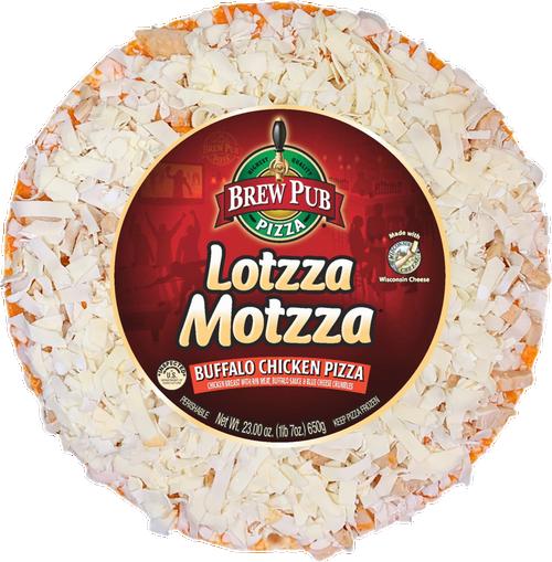 Brew Pub Lotzza Motzza Buffalo Chicken Pizza