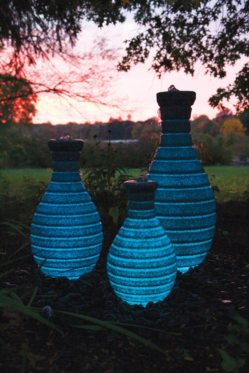 18in Color Changing Vase Fountain by Atlantic