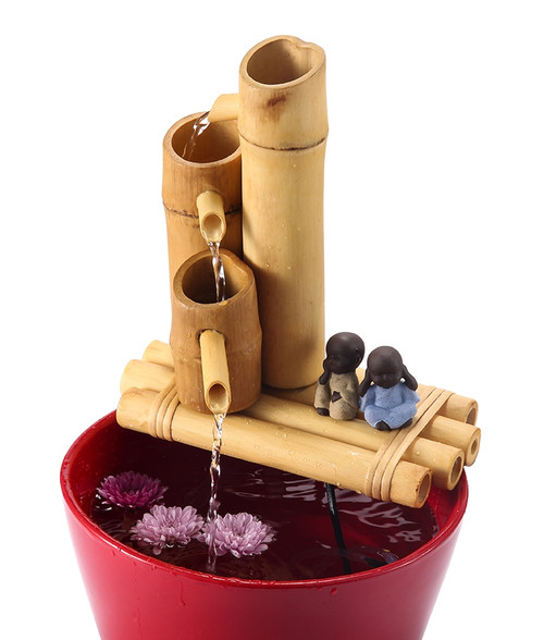 "12"" 3-tier Bamboo Fountain"
