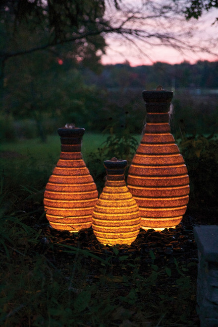 24in Color Changing Vase Fountain by Atlantic