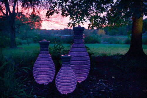 32in Color Changing Vase Fountain by Atlantic
