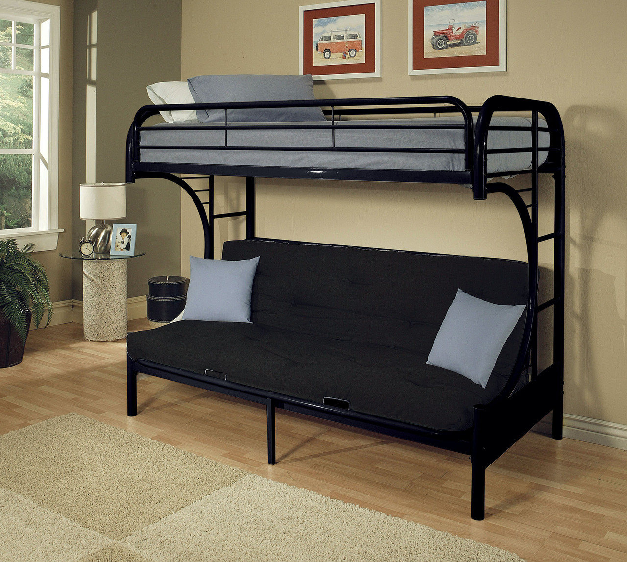 Terrific Futon Bunk Bed Black Gmtry Best Dining Table And Chair Ideas Images Gmtryco