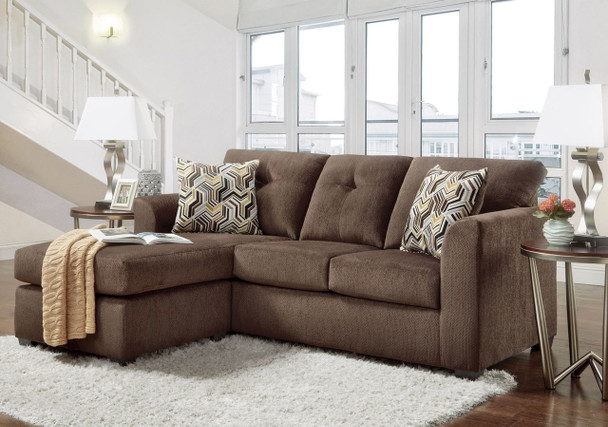 KELLY CHOCOLATE SOFA-CHAISE