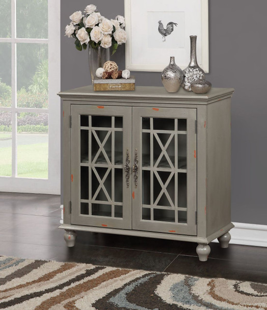 GRAY DISTRESSED CURIO