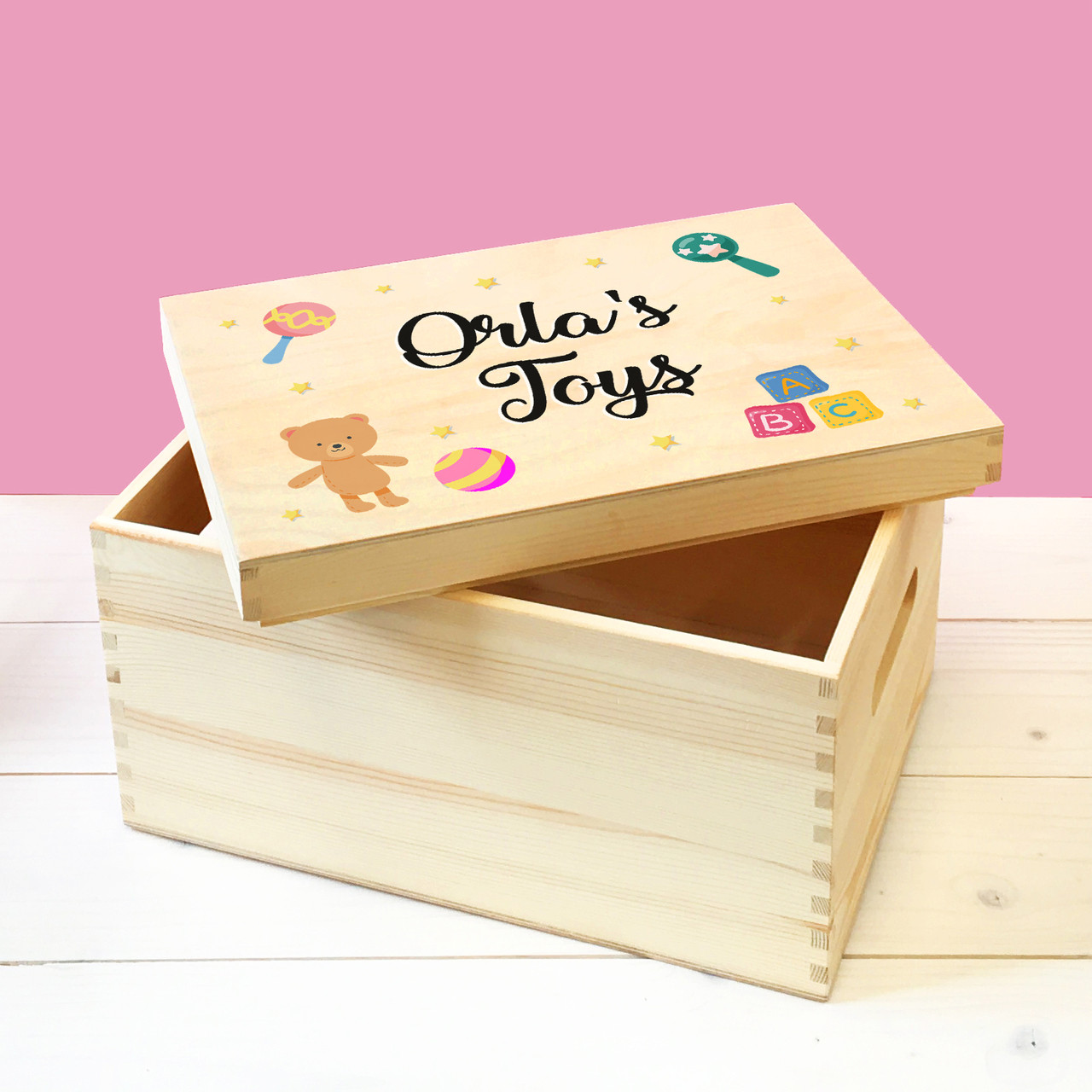 baby toy boxes personalised