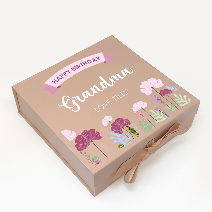 Personalised Floral Keepsake Box, Birthday Gift Box For Her