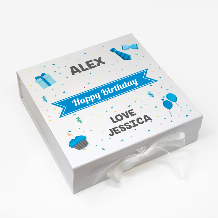 Personalised Happy Birthday Gift Box For Him