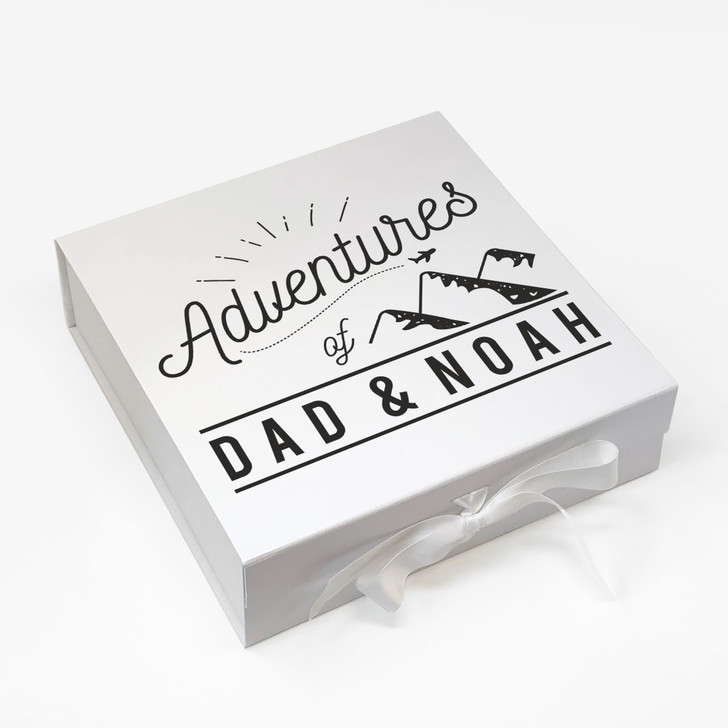 Personalised Adventures Memory Box, Father's Day Gift For Dad