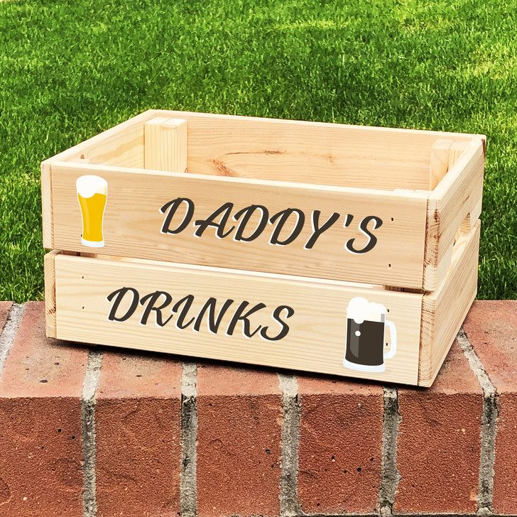 Personalised Daddy's Drinks Father's Day Beer Gift Crate