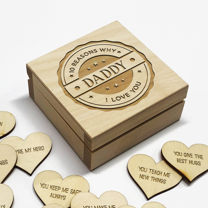 10 Reasons Why I Love You Daddy Personalised Box, Birthday or Father's Day Gift Idea