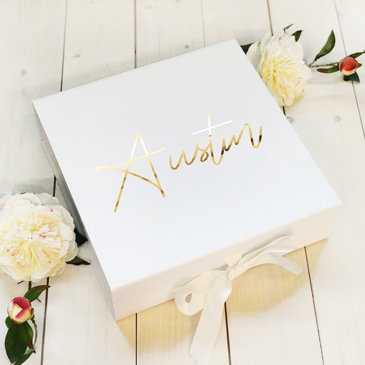Wedding Day Personalised Name Gift Box, For Newly Weds and Anniversaries, Bridesmaid, Best Man, Bridal Party Keepsake Box