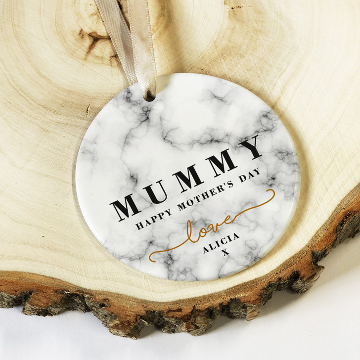 Personalised I LOVE YOU Ceramic Mother's Day Keepsake Decoration Gift For Mums