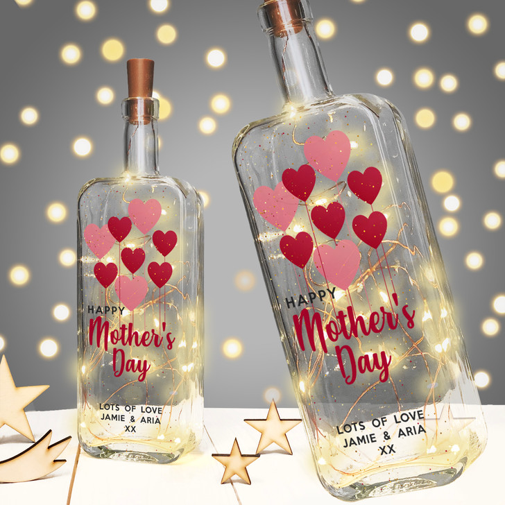 Personalised Light Up Bottle Mother's Day Gift For Mum, Mummy, Nanny or Grandma