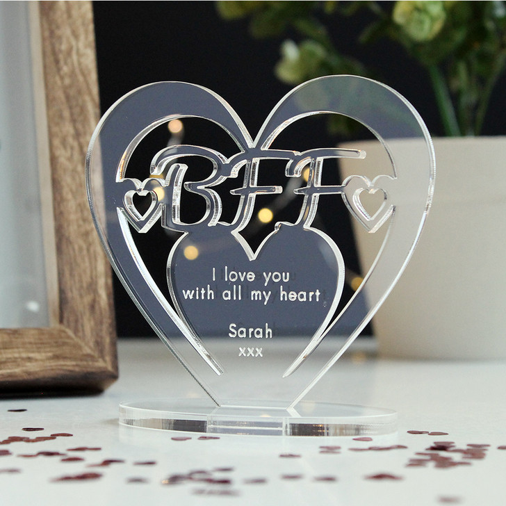 BFF Heart Ornament - Personalise With Any Message
