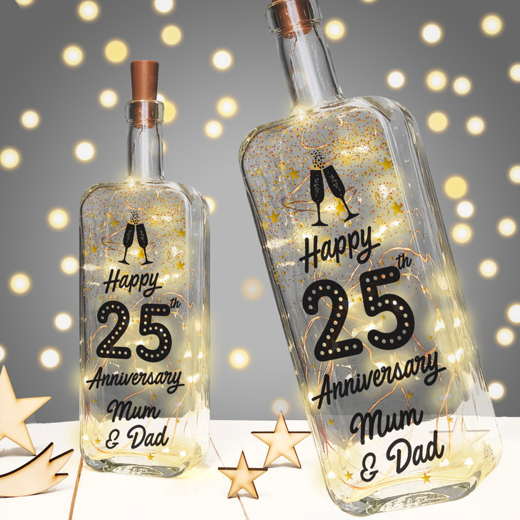 Personalised Anniversary Light Up Bottle Gift