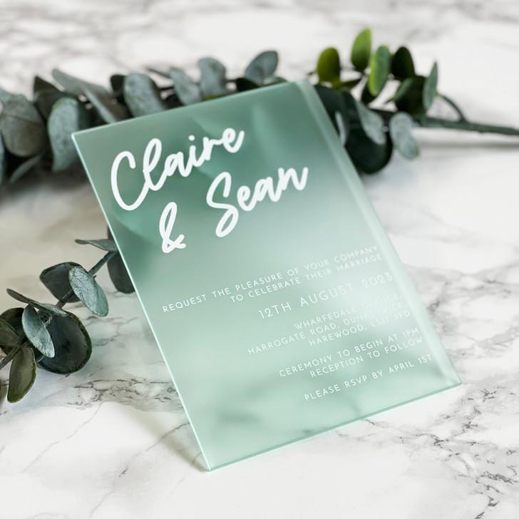 Modern A6 Acrylic Wedding Invitation