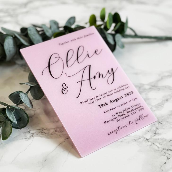 Luxury Modern A6 Acrylic Wedding Invitation