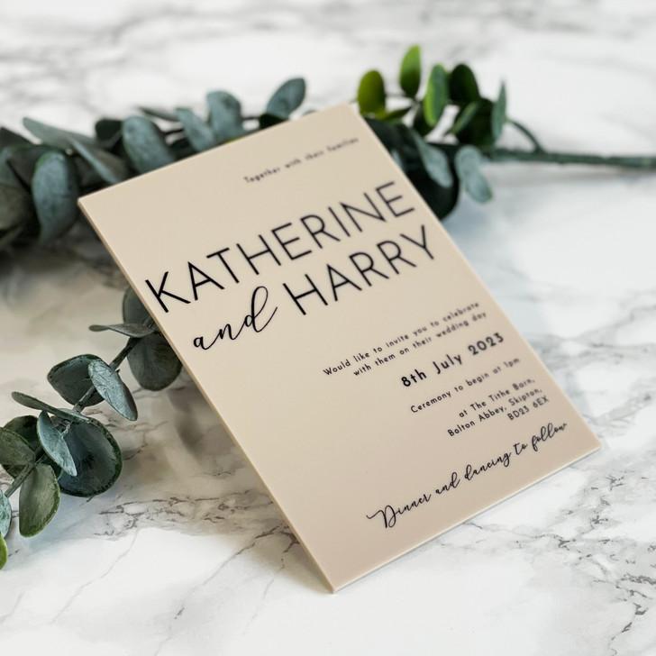 Modern Luxury A6 Acrylic Wedding Invitation
