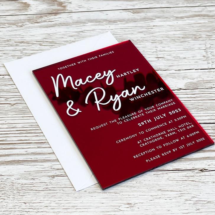 Modern Acrylic A6 Wedding Invite