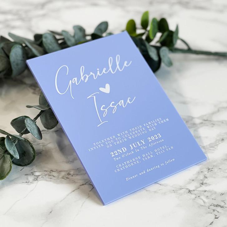Luxury Chic A6 Acrylic Wedding Invite