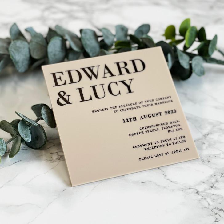 Luxury Modern Square Acrylic Wedding Invitation