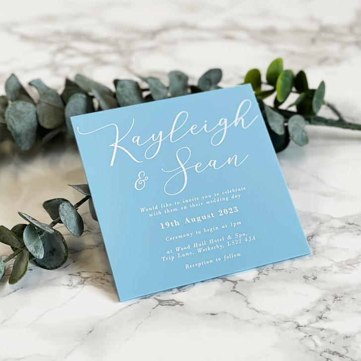 Luxurious Square Acrylic Wedding Invitation