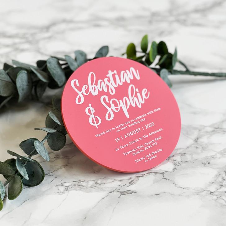 Luxurious Circle Acrylic Wedding Invitation