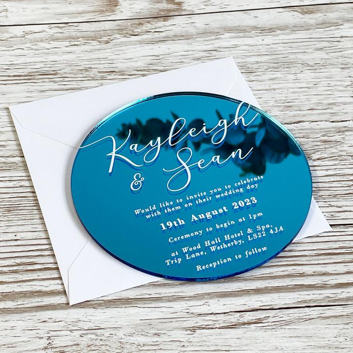 Luxury Modern Round Acrylic Wedding Invitation