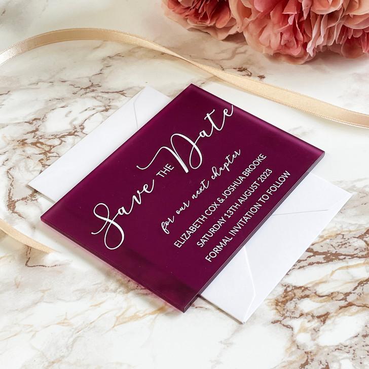 Modern Acrylic Wedding Save the Dates