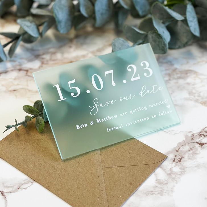 Luxury Personalised Acrylic Wedding Save the Dates