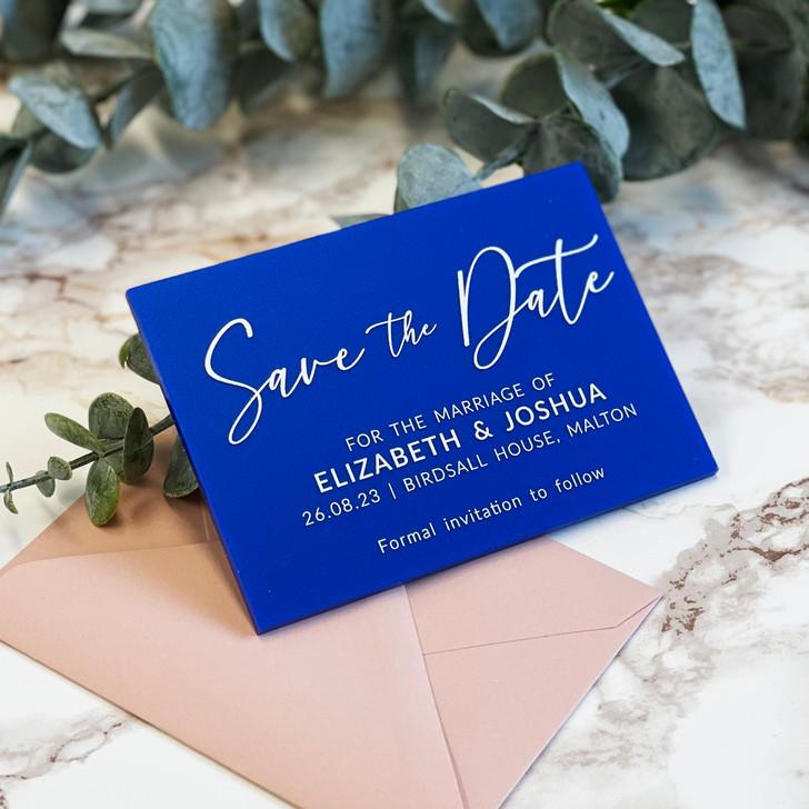 Modern Elegant Acrylic Wedding Save the Dates