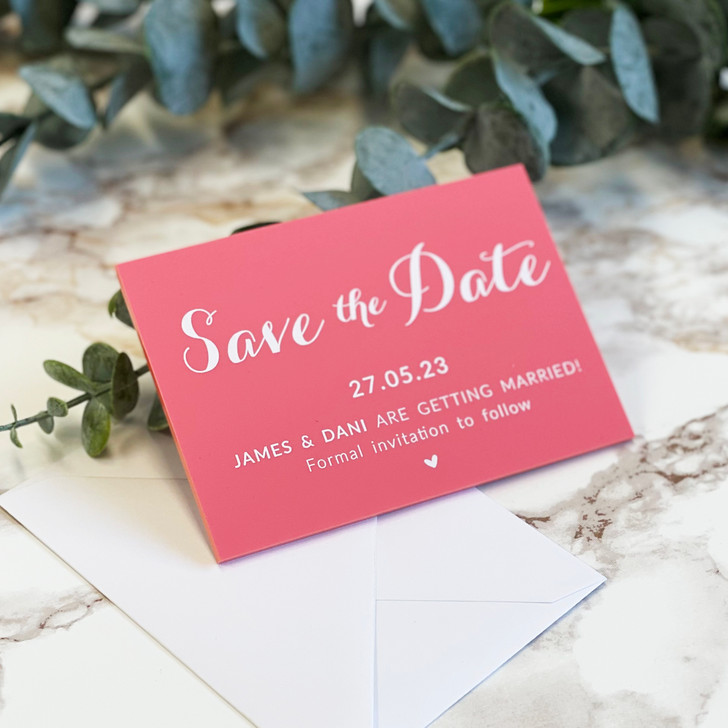 Luxury Acrylic Save the Date Cards