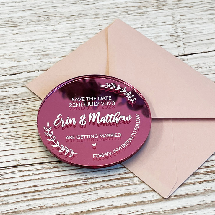Save the Date Acrylic Wedding Announcement Magnets
