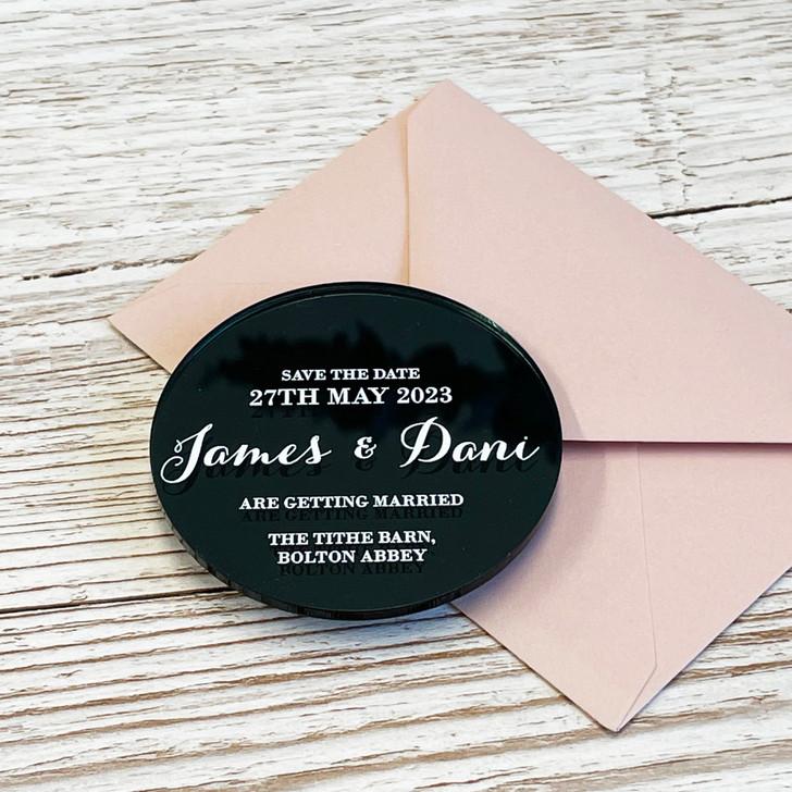 Custom Acrylic Save the Date Magnets - Luxury Wedding Stationery