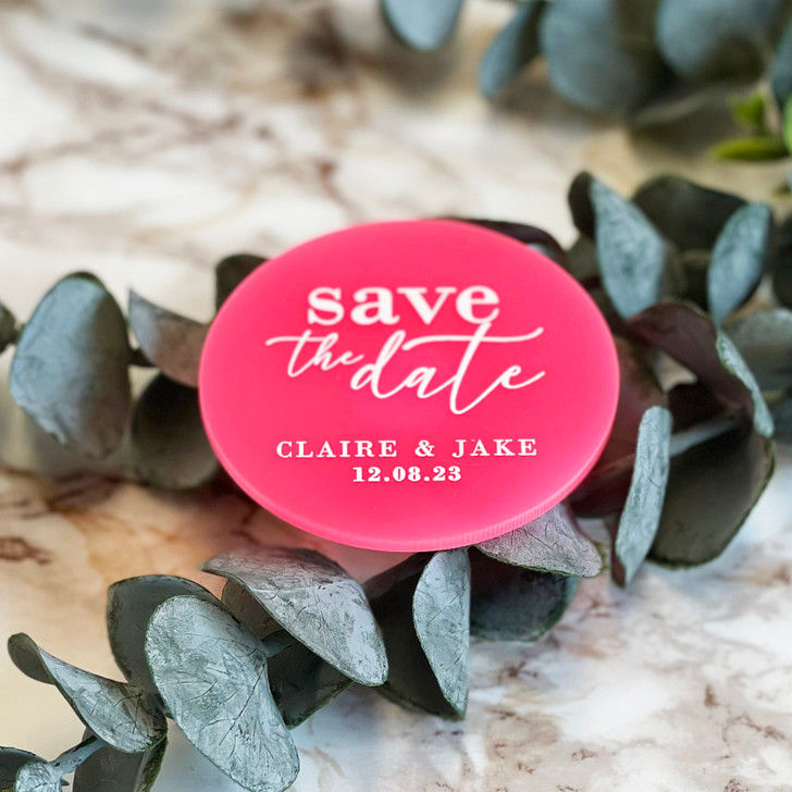 Luxury Acrylic Save the Date Magnets With Envelopes
