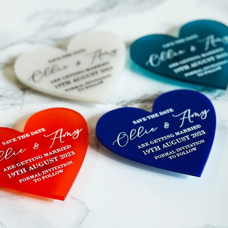 Luxury Heart Save the Date Magnets